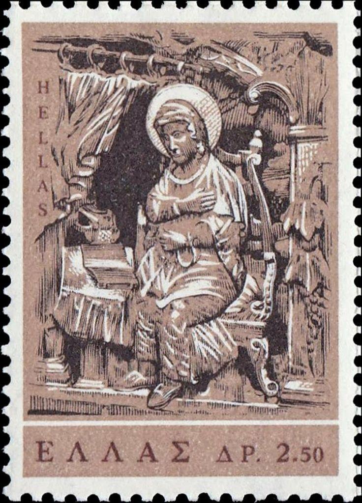 1966 Ελληνικά γραμματόσημα**Ο Ευαγγελισμός σε Ξυλόγλυπτο Τεμάχια : 72.000.000