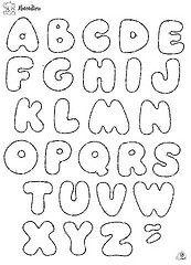 .Mimos da Lene: Moldes de letras diversos...