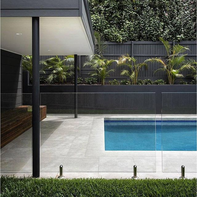 Home Exterior Design Ideas Scyon Wall Cladding And Floors Finished Pool The Quick Pool Solution Swimmi Pool Houses Pool Pavers Swimming Pools Backyard
