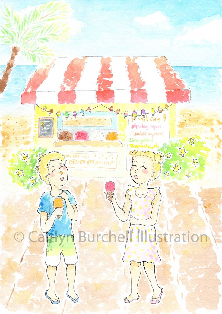 Beach Days - Art prints by Caitlyn Burchell Illustration