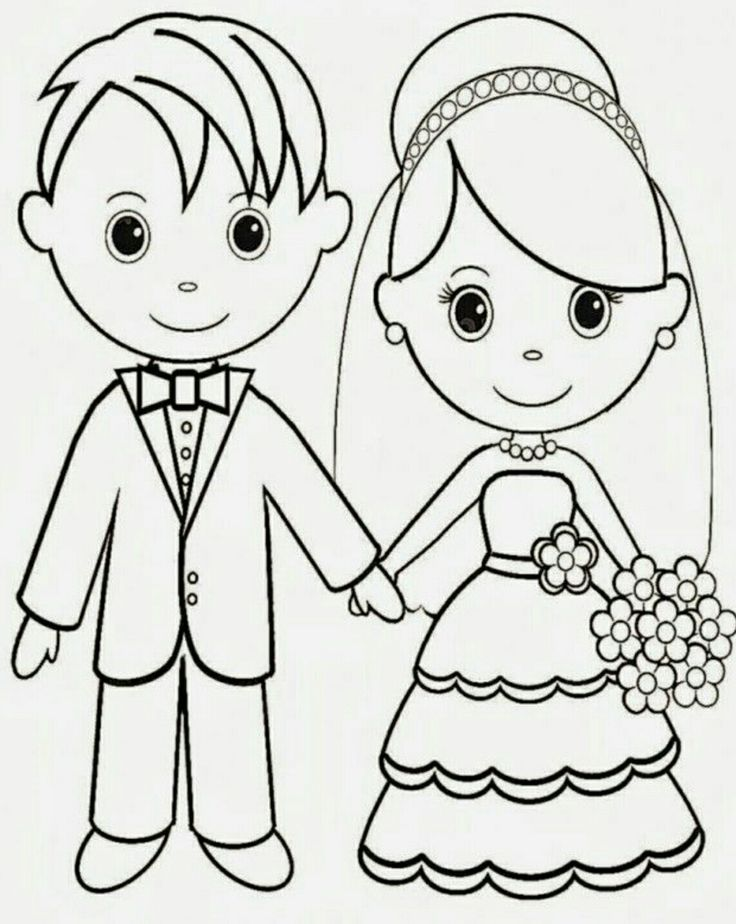 12 best Wedding Coloring Pages images on Pinterest  Wedding coloring pages Coloring books and
