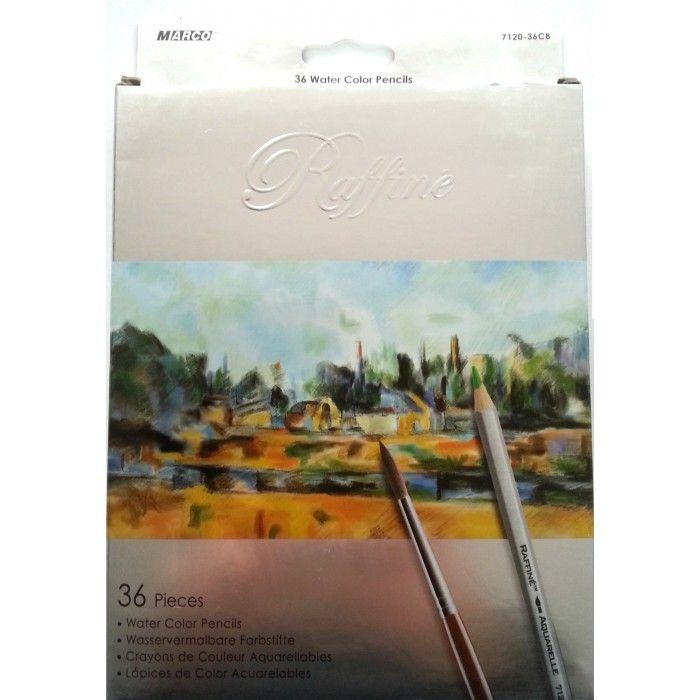 Creioane colorate acuarela, 36 culori/set, Marco - Creioane colorate profesionale - Articole pentru scoala - Rechizite