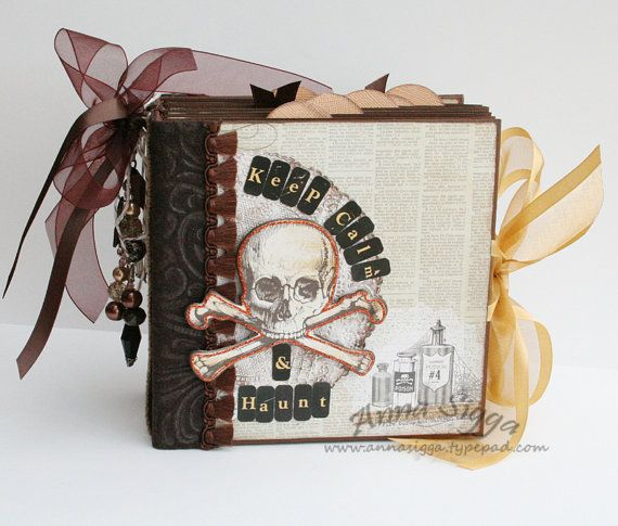 Halloween mini album using Lost & Found Halloween from @MME inc