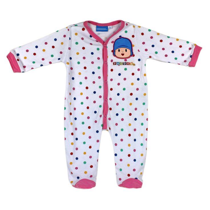Pelele de bebé niño para los primeros meses de vida. Se trata de un pijama de cuerpo entero que se abrocha al frente y entre las piernas del bebé. Es una prenda cómoda para que duerma el pequeño y de fácil colocación.