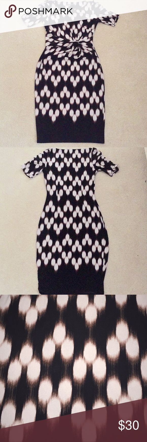 Half Sleeve Knee Length Bodycon Dress M&S Collection UK SIZE 8 US SIZE 4 Marks & Spencer Dresses