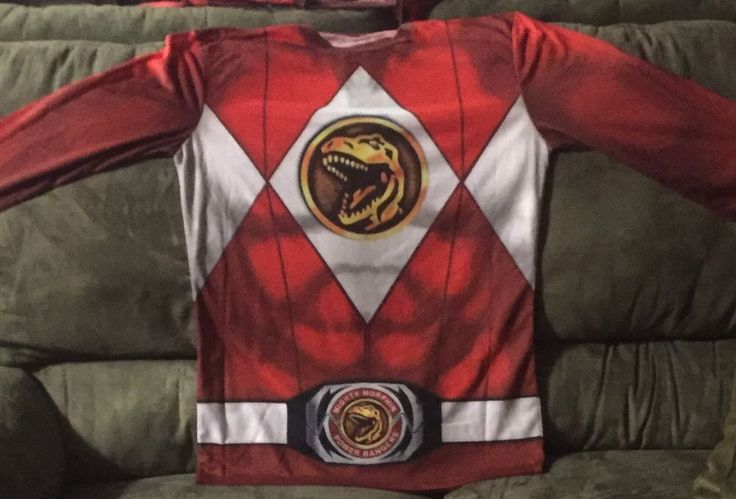 Power Ranger medium long sleeve costume shirt #Ranger #GraphicTee