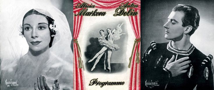 The souvenir programme for the gala appearance of Alicia Markova and Anton Dolin at the Davis Theatre, Croydon, London on 21st March 1950.