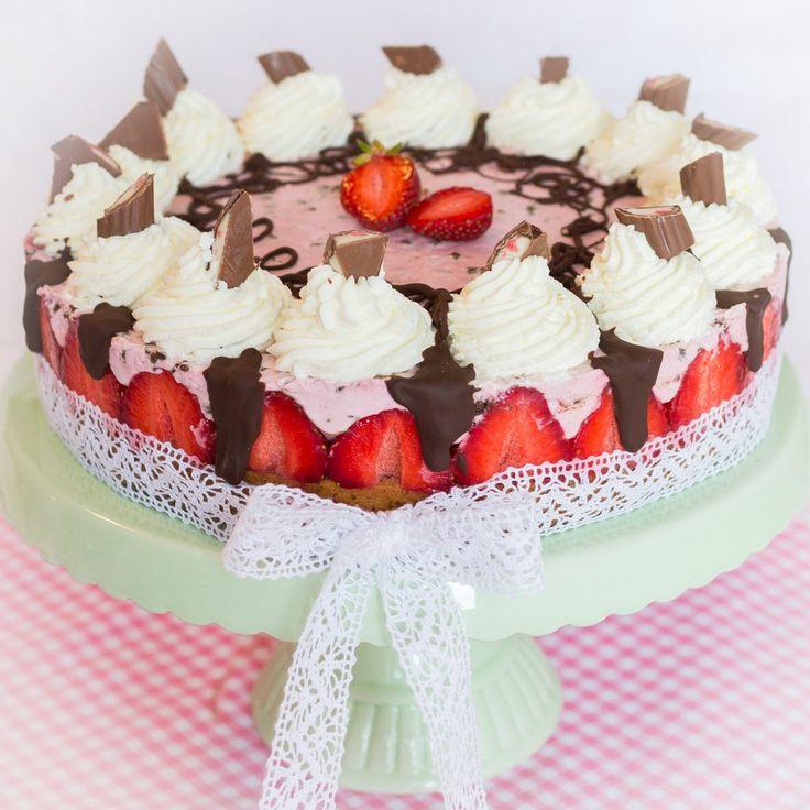 """Erdbeer-Schokoladen-Torte mit Jogurette """"Unser Sommer - unsere Desserts"""" #2 Bloggeraktion"""