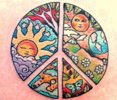 Artistic Peace Tattoo Design