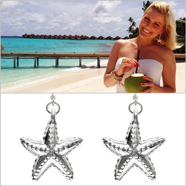 awesome tv-presenter jennifer knäble is wearing strawebrry & cream's star fish earrings