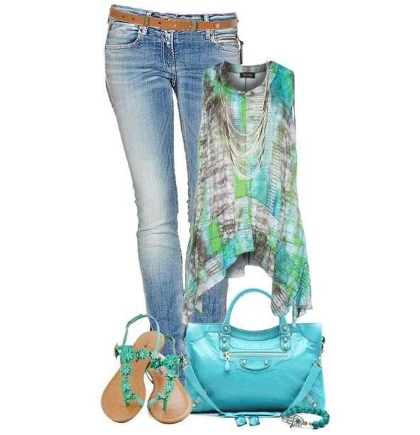 Love this bag and shoes. I would love to beef up my tortoise, greens Nd blues for the summer
