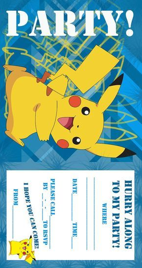Pokemon Birthday Invitations Free Printable