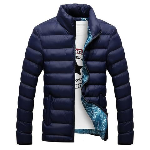 Slim-Fit Goose Down Puff Mandarin-Collar Thick Men's Winter Jacket M-4XL 7 Colors