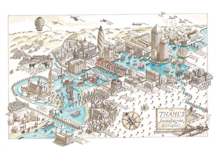 map of london by katharine baxter