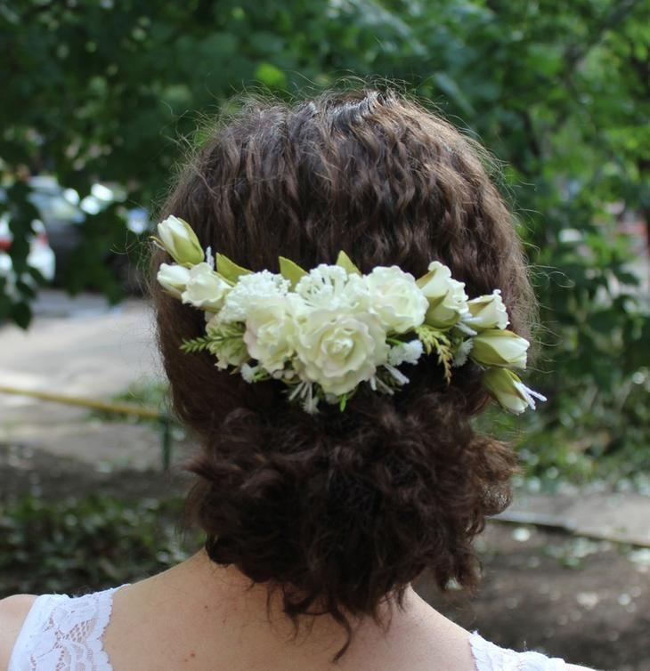 Свадебный гребень с розами