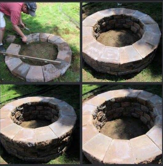 Great Bbq Pit Set Up For The Backyard Perfect Under The: 10+ Images About Fire Pit Builds And Seating Wall On
