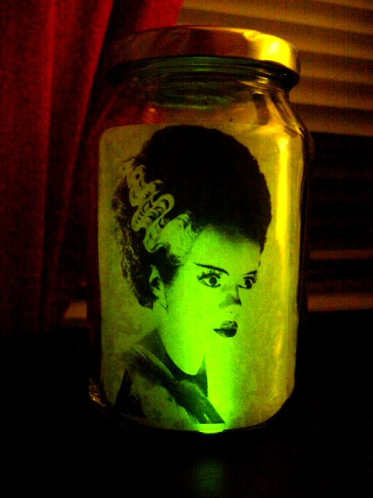 glow stick art jars print images to paper and put inside a jar with a - Glow Sticks For Halloween