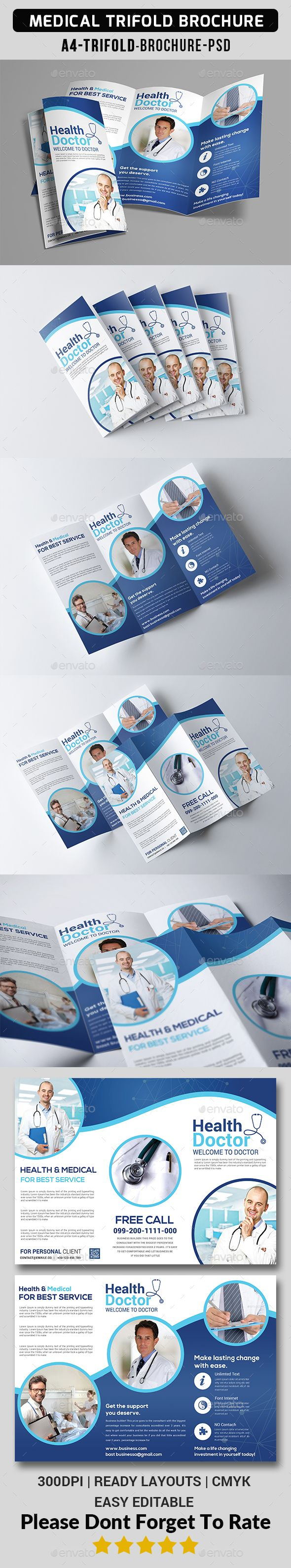 Medical Trifold Brochure - Informational Brochures Download here : graphicriver....