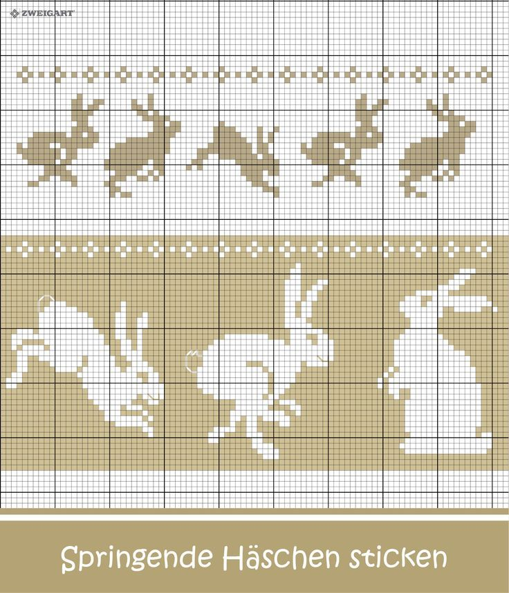 Crochet Easter Bunny Embroidery # Embroidery #Cross Stitch / #Easter; #Embroidery #Cr …