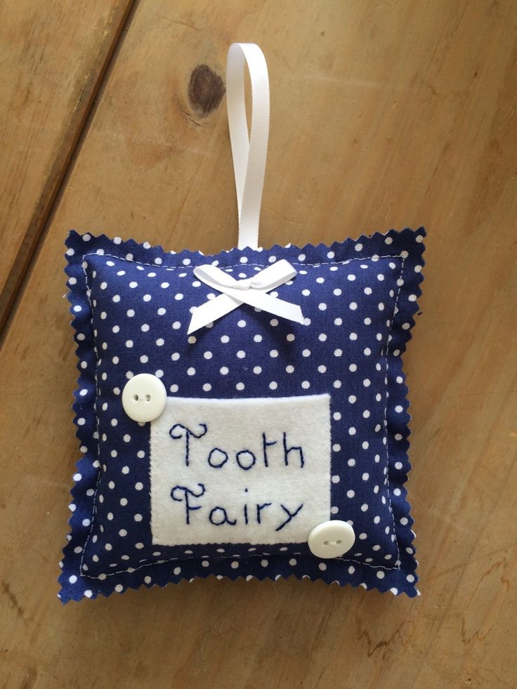 Tooth Pillow blue. Tooth cushion. Lost tooth. Tooth fairy. Handmade. Tooth Fairy Pillow. - pinned by pin4etsy.com