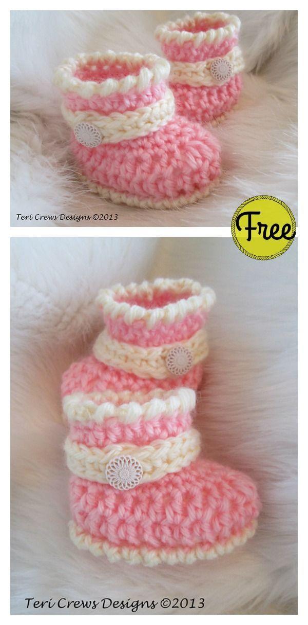 Cute Baby Boots Free Crochet Pattern Crochet Baby Booties