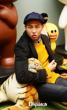 Rap Monster, Rap Mon, Namjoon, Dispatch, tiger toy, hat
