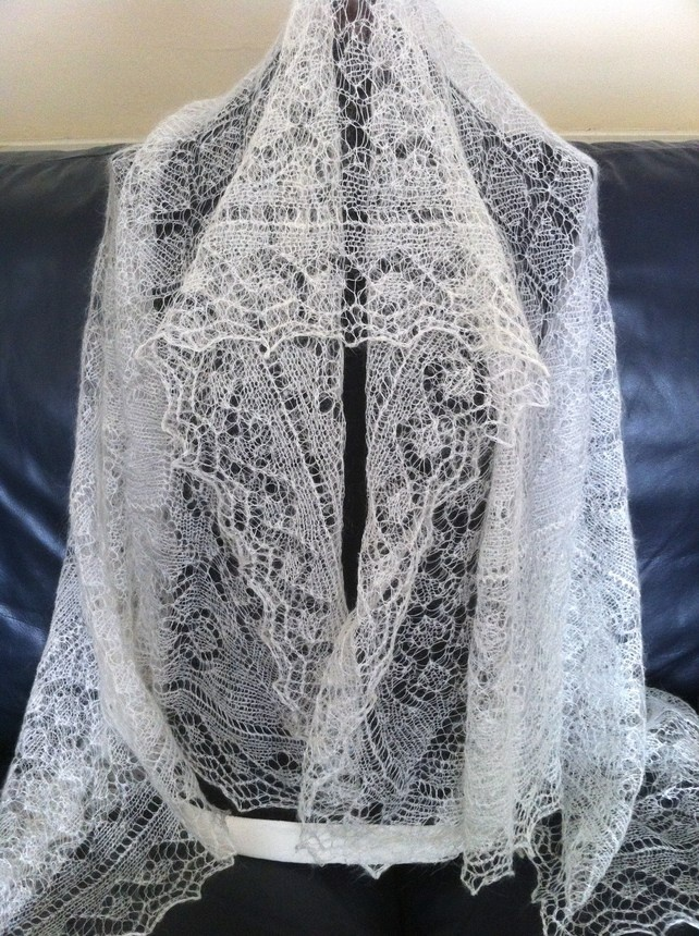 Genuine Orenburg Goat Hair Handknitted Lace Shawls for Ladies £64.99
