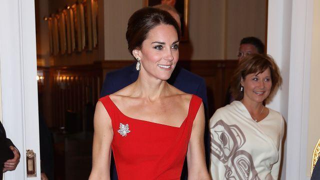 Kate Middleton merge Red Hot pentru Recepția oficială cu prințul William la Royal Tour of Canada