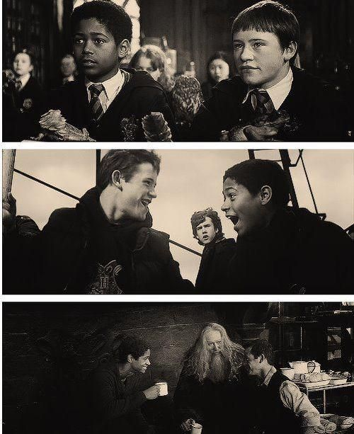 Seamus Finnegan and Dean Thomas. One of my favorite friendships in the Harry Potter series.