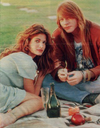 I've always been obsessed with the gorgeous supermodel/rock star combos of the 90s. Stephanie Seymour & Axl Rose are the quintessential pair.