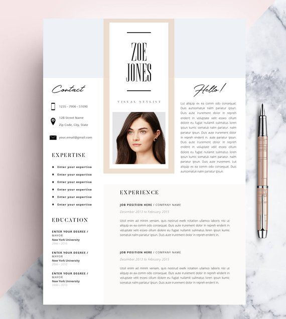 Creative Resume Template Cv Template Instant Download