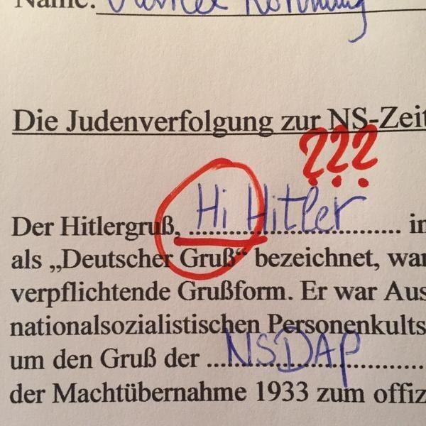 """""""Hitler kam 1933 an die Macht. Das nannte man den Hitlerpunsch."""""""