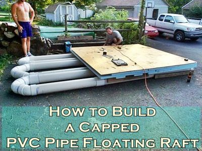 The Homestead Survival | How to Build a Capped PVC Pipe Floating Raft | DIY Project http://thehomesteadsurvival.com