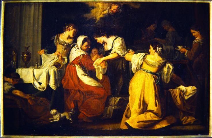 Karel Škréta - Narození Panny Marie (kolem 1640, NG Praha)