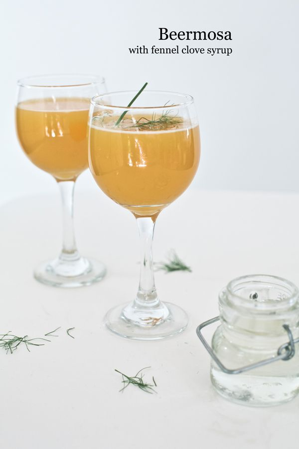 Beermosa with fennel clove syrup... A refreshing summer treat!