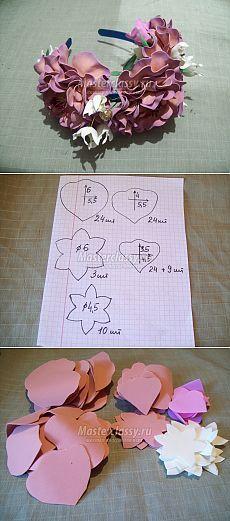 Мастер-класс ободка «Надежда» из фоамирана.