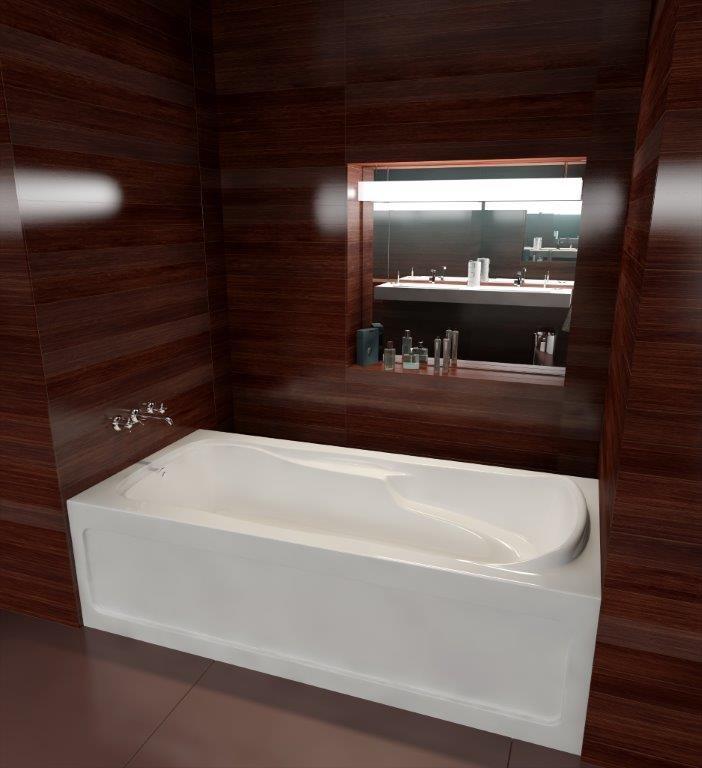 "The Advantage ll Model 7234S - 72"" Acrylic Bathtub"