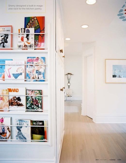 Tijdschriften zijn niet alleen leuk om door te bladeren, maar ook om tentoon te stellen! Er zijn zoveel mooi gemaakte tijdschriften. Op deze manier kun je ze mooi aan de muur hangen.