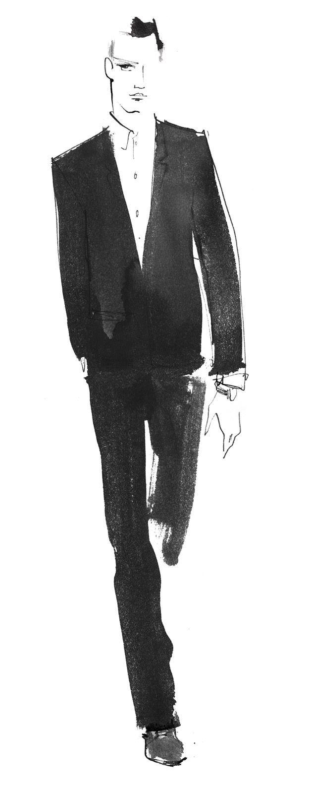Illustration | Lovisa Burfitt | #illustration #man #silhouette #brush