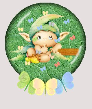 zöld manócska