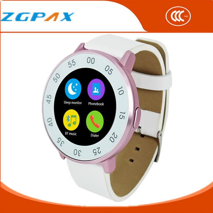 ZGPAX 2016 Bluetooth Smart Uhr für Android/IOS Reloj Smartwatch Mujer MTK2502 Runde Schrittzähler Männer Armband Mp3-player //Price: $US $76.70 & FREE Shipping //     #smartuhren