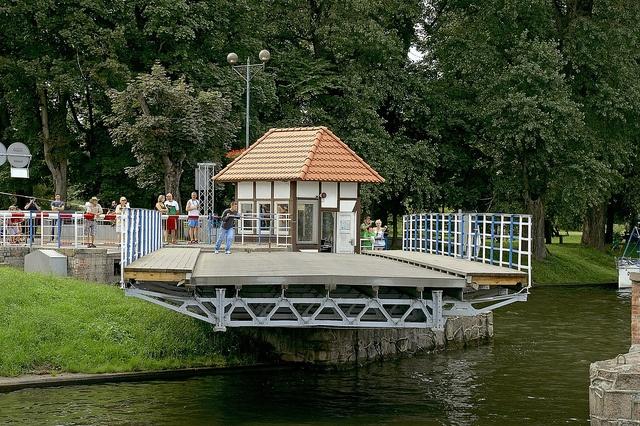 Drehbrücke in Gizycko (Lötzen) by Buridans Esel, via Flickr  Most obrotowy w Giżycku.