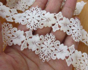 Antique lace trim white cotton lace Cotton lace Trim