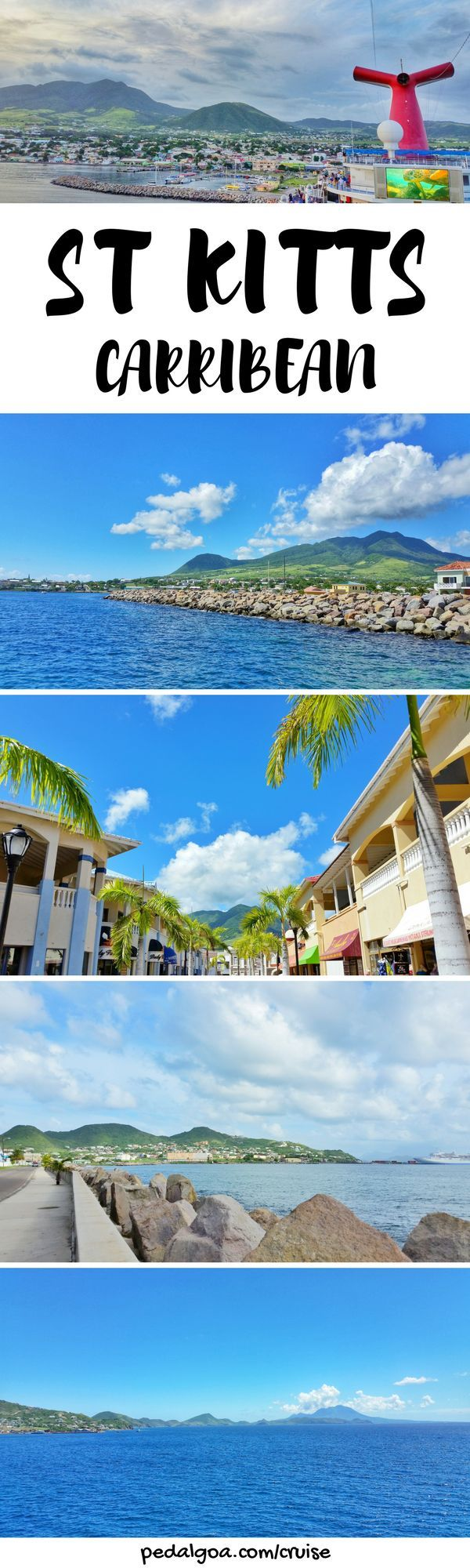 Caribbean cruise to St. Kitts. Things to do in St Kitts after excursions, including taking instagram pictures near St Kitts cruise port. You'll pass shopping and food in Basseterre. Budget-friendly island activities after you get back from beaches, resorts, or tours! Cruise tips for your Caribbean cruise to St Kitts that might include Grand Turk, San Juan Puerto Rico, St Maarten, Barbados, St Lucia too.