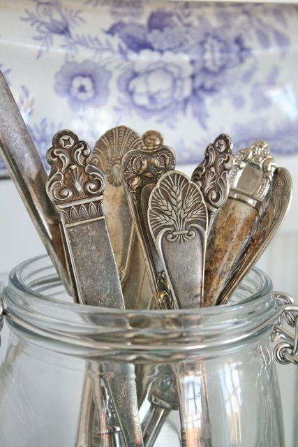 Misc silver...love odds and ends like this! Vintage and eclectic                                                                                                                                                                                 More
