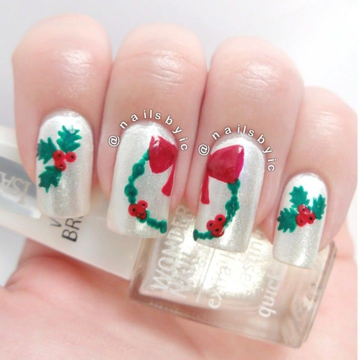 16 best nail art images on pinterest nails design nail art under the mistletoe nail art prinsesfo Image collections