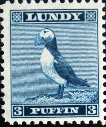lundy puffin stamp - Google Search