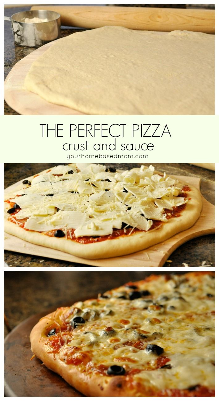 The Perfect Pizza crust and sauce
