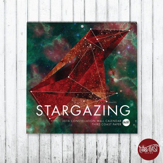 This calendar is the culmination of months of hard work and lots of research! Perfect for anyone who loves constellations, stargazing, the