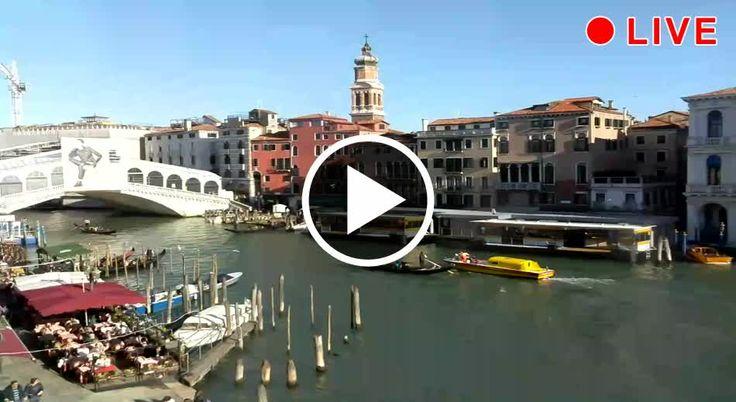 Spektakulärer Live-Blick auf die Rialtobrücke und den Canal Grande
